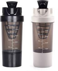 Buy HAANS Cyclone Shakers Combo(set of 2) 1000 ml Shaker  (Pack of 2, Black, Grey) from Flipkart