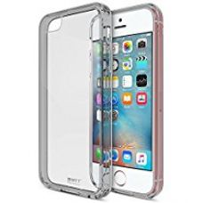 Buy MTT Shock Absorption Transparent Case for iPhone 5SE 5S 5 (Smoke Black) from Amazon