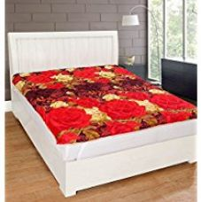 Warmland Floral Polycotton Double Mattress Protector - Multicolour for Rs. 999