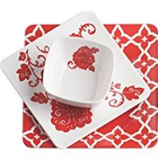 Servewell Red Barcelona Dinner Set, 4-Pieces for Rs. 835