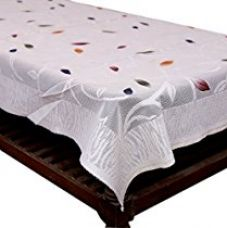 Kuber Industries™ Center Table White Floral Design in Cloth Net 40*60 Inches - KI3552 for Rs. 299