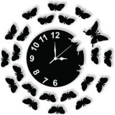 Buy Black Wall Clock for Rs. 299