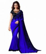 Bhuwal Fashion Embroidered Faux Georgette Saree With Blouse Pcs-bf91 for Rs. 549