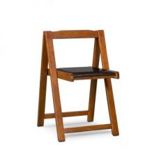Buy Compact Folding Chair 2 Pcs Black And Walnut for Rs. 5,500