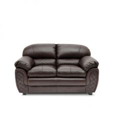 Buy Mirage Brown Two Seater Sofa from Fabfurnish