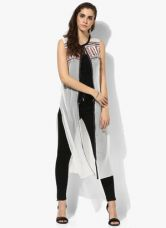 W White Embellished Shrug for Rs. 1140