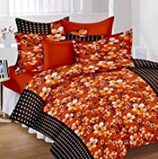 Lali Prints 100% Satin Floral Print Trendy Premium Double Bedsheet with 2 Pillow Covers for Rs. 799
