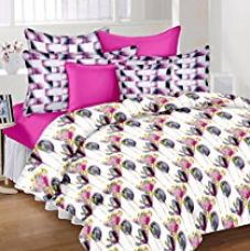 Buy Lali Prints Pure Comfort Floral 100% Cotton 1 Double Bedsheet with 2 Pillow Covers from Amazon