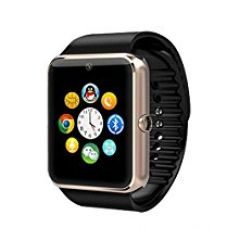 Buy eshop24x7 Bluetooth CHAMPAGNE GOLD Smart Wrist Watch Phone with SIM Card Slot and NFC Smart Health Watch for Android Samsung HTC and IOS Apple iPhone Smartphone- With Black Band from Amazon
