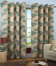 Buy Homefab India Set of 2 Window Eyelet Curtains Floral for Rs. 479