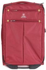 Flat 43% off on Swiss Military POLYESTER SMALL Size 20inch TRAVEL LUGGAGE Cabin Luggage - 20 inch  (Red)