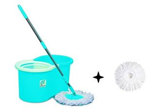 Buy Esquire Elegant Spin Mop with 1 Extra Refill from Amazon
