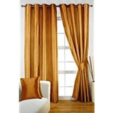 Buy HOMEC Decorous Stripes Curtain Set of 2 (Size - Window 46 X 60 inch/Color - Gold) from Amazon