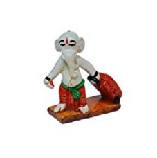 ECraftIndia Polyresin Ganesha with Luggage on Vacation Showpiece for Rs. 595