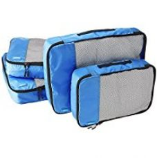 AmazonBasics Packing Cubes - 2 Medium and 2 Large, Blue (4-Piece Set) for Rs. 1,084