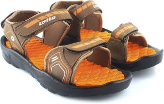 Get 66% off on Lotto Men Beige/Orange Sports Sandals