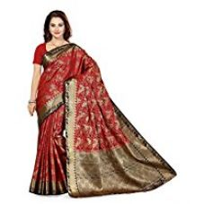 Ishin Silk Saree (Sngm-16229_Red & Golden) for Rs. 2,199