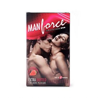 Man Force Extra Dotted Condoms -Strawberry Flavoured for Rs. 68