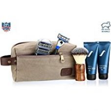 Buy Spruce Shave Club Loaded 5X Traveller (Travel Kit, Razor + Pack of 4 Cartridges, Gel, Balm, Brush) (Tea Tree Oil & Aloe Vera Shave Gel) from Amazon
