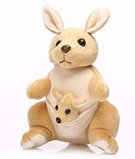 Buy Deals India Mother and Baby Kangaroo, Beige from Amazon