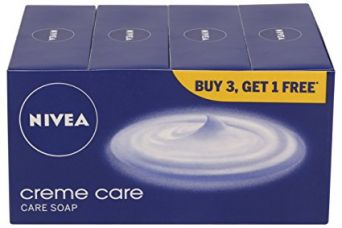 Buy Nivea Creme Care Soap, 75g (Buy 3 get 1) from Amazon