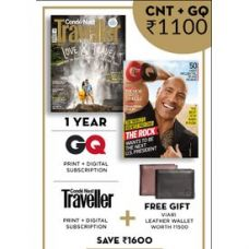 Get 62% off on GQ+ Conde Nast Traveller (English 1 Year) (Print+D...