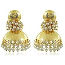 Spargz Traditional Gold Plated Beautiful Pearl Design Jhumki Earring For Women AIER 601 for Rs. 449
