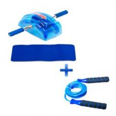 Flat 53% off on Macintosh Ab Slider Roller With Free Mat And One Skipping Rope
