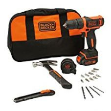 BLACK+DECKER BDCDD12HTSA 10.8V Cordless Drill Kit (Orange,24-Pieces) for Rs. 4,399