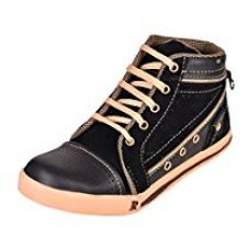 Essence Boy's Black Denim Casual Shoes-5 for Rs. 499