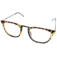 Buy Silver Kartz Leopard Print Rectangular Shiny Brown Spectacle Frame (wy225) from Amazon