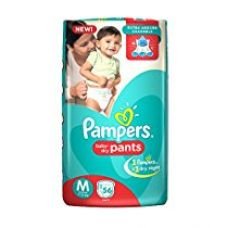 Pampers Medium Size Diapers Pants (56 Count) for Rs. 515