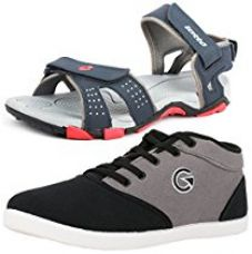 Buy Lotto Mens's Combo Of Sandal & Globalite Casual Shoes GT7144_461P from Amazon