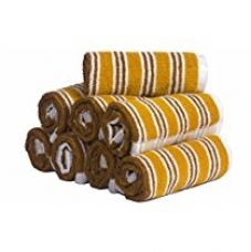 Buy Skumars Love Touch Multi Stripe Face Towel Set - Pack of 8 - 440 GSM from Amazon