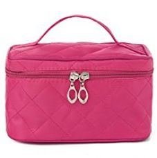 UberLyfe Cosmetic Bag cum Travel Organizer - Perfect for Weddings- Hot Pink (1152-PK) for Rs. 345