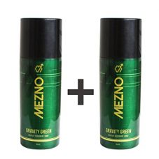 Buy Mezno Gravity Green Refreshing Fragrance Deodorant Body Spray For Men - 24 Hrs Fresh Power Deo - 150ml (Pack of 2 ) from Amazon