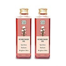 Auravedic Kumkumadi oil (pack of 2) with real saffron for Spotless glowing skin. A powerful brightening oil infused with real saffron and boosted with super power natural plant extracts.This product is cruelty-free, and contains no parabens and sulphates for Rs. 440