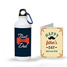 Buy Aart Happy Father's Day Printed Sipper Bottle with Greeting Card For the Father's Day Gifts from Amazon
