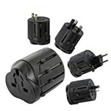 Buy Universal World Travel Power Adapter Converter With USB Port Charger UK/US/EU/AU - Black Color from Amazon