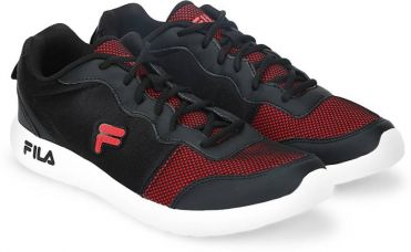 Buy Fila REGENT Running Shoes  (Black) from Flipkart