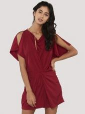 Flat 45% off on NOBLE FAITH Front Gathered Playsuit