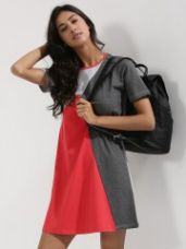 Buy BEYOND CLOUDS Color Block T-shirt Dress for Rs. 769