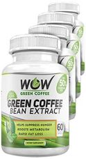 Wow Green Coffee Weight Management Supplement with 800 mg GCA - 60 Capsules (Pack of 4) for Rs. 4,653