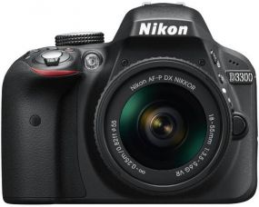 Buy Nikon D3300 DSLR Camera (Body with AF-P DX NIKKOR 18 - 55 mm F3.5 - 5.6 VR Kit Lens)  (Black) from Flipkart