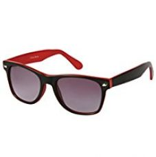 Buy Cristiano Ronnie Black with red sides & gradient lenses Wayfarer Sunglasses from Amazon