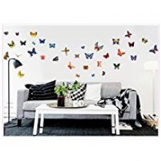Buy Jaamso Royals 'Butterfly' Wall Sticker (Vinyl, 45 cm x 5.1 cm x 5.1 cm) from Amazon