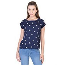 Buy 2DAY WOMEN STYLISH PRINTED CREPE TOP from Amazon