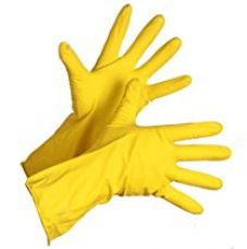 Buy Spartan Standard Rubber hand gloves reusable set of 3 pairs, size 8inch for washing, cleaning Kitchen Garden (