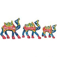 Jaipuri Haat Handicrafted set of 3 showpiece Camel for decoration and Gift purpose (10X10Cm ,9X 9Cm ,8X 8Cm) for Rs. 219