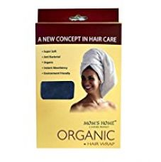 Buy Mom's Home - Hair Wrap Organic Cotton Terry - Head Wash Towel - Navy from Amazon